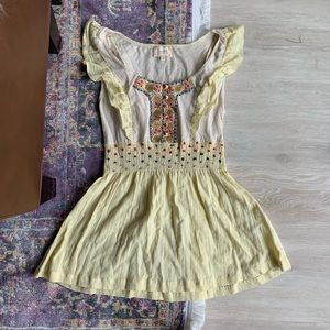 Boho yellow Nordstrom's Summer Blouse